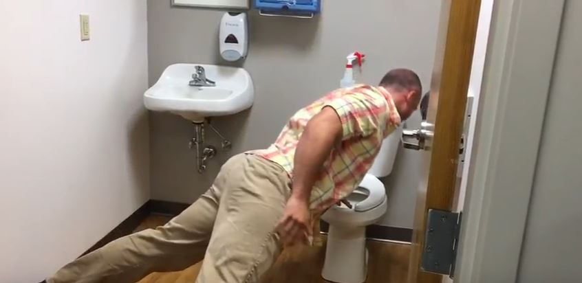 A Very Greasy Grease Trap: Perfect Pistol Squats and Push-ups from the Potty